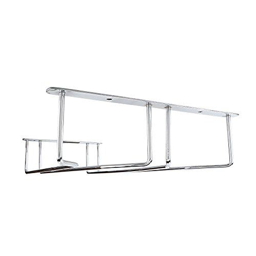 MOCHEN Wine Glass Rack Holder Upside Down Glass Hanging Organizer for Kitchen/Bars/Pubs (Double Line)