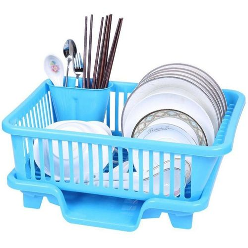 Bluewhale New 3 IN 1 Large Sink Set Dish Rack Drainer Dish Drainer Kitchen Rack(Plastic)