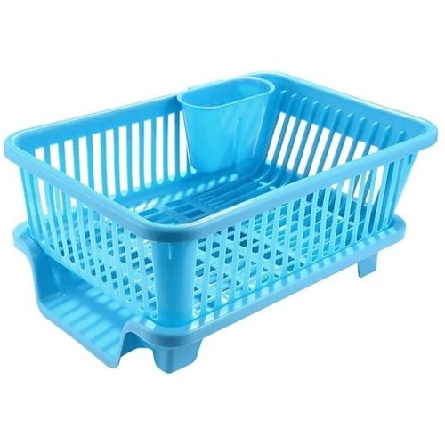 3D METRO SUPER STORE Large Sink Set Dish Rack Drainer Dish Drainer Kitchen Rack(Plastic)