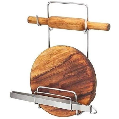 VIVAAN Chakla Belan Stand Kitchen Tool Set Rolling Pin Stand Chakla/Belan Kitchen Rack(Steel)