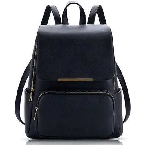 Jeenu Black Casual Backpack