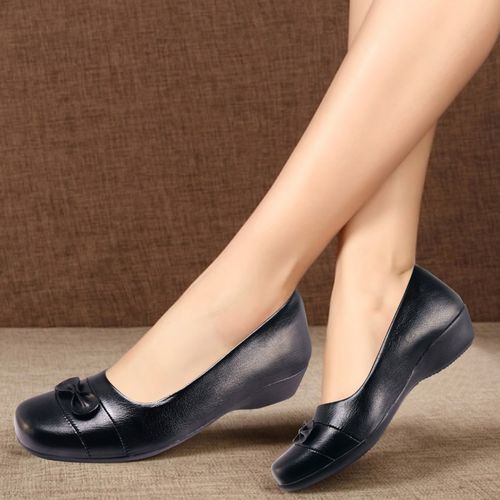 Action Comfort Formal Bellies Shoes Slip On For Women(Black)