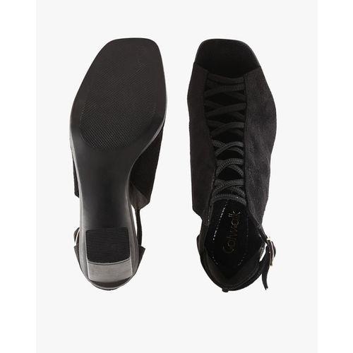 CATWALK Criss-Cross Chunky Heels with Cutouts