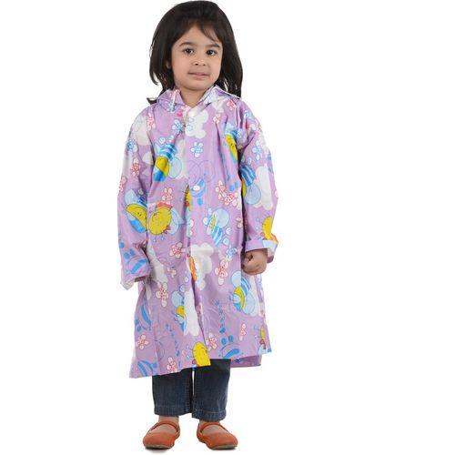Burdy 29G PVC Printed Girls Raincoat
