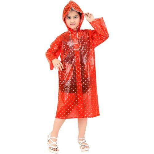 Goodluck Polka Print Girls Raincoat