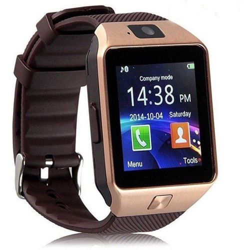 Apex APXDZ09 smart watch phone Smartwatch(Brown Strap, Regular)