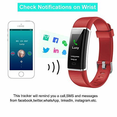 Muzili Fitness Band IP68 Waterproof Fitness Tracker with Heart Rate Sleep Monitor 14 Sport Mode Activity Tracker Color Screen Pedometers Calorie Counter Call