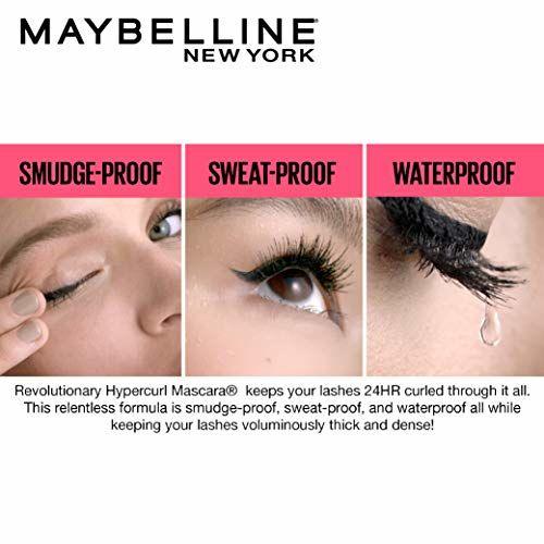 Maybelline New York Black Hypercurl Mascara Waterproof,9.2ml