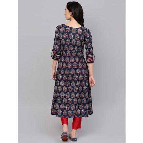 Indo Era color block flared kurta