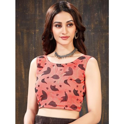 SUTRAM color block half & half saree with blouse