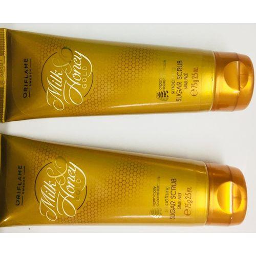 Oriflame Sweden MILK & HONEY SUGAR SCRUB SMALL PACK (75) PACK 2 Scrub(150 ml)