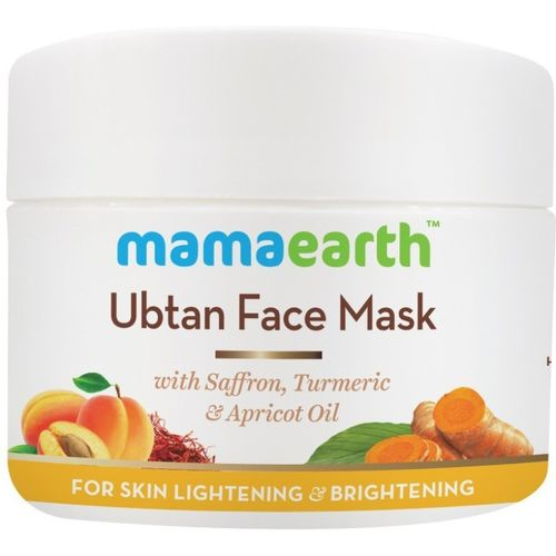 Mamaearth Ubtan Face Pack Mask with Saffron, Turmeric & Apricot Oil, 100 ml(100 ml)