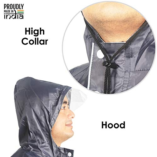 THE CLOWNFISH Polyester Double Layer Waterproof Raincoat with Hood