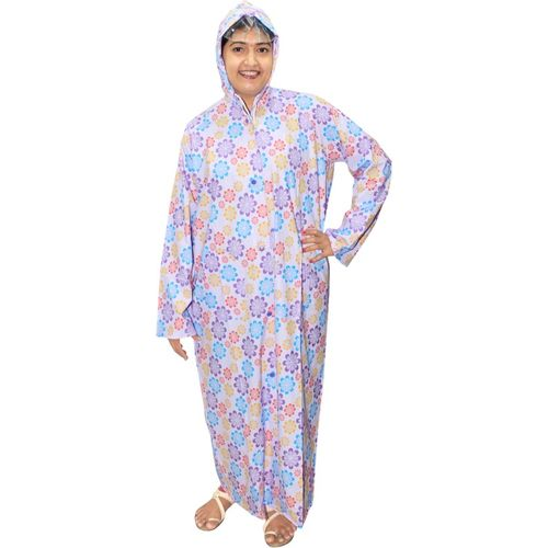 Goodluck Floral Print Women Raincoat