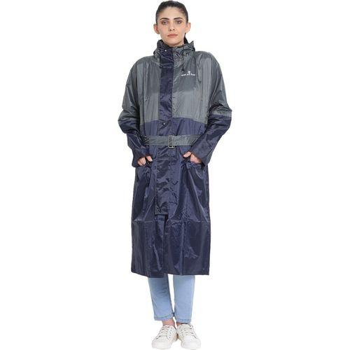 Wet Off Hood Solid Women Raincoat