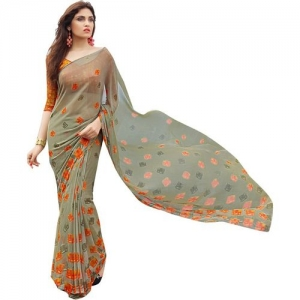 Shaily Retails Printed Fashion Poly Georgette Saree(Multicolor)