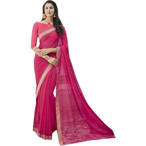Shaily Retails Self Design Fashion Pure Silk Saree(Pink)