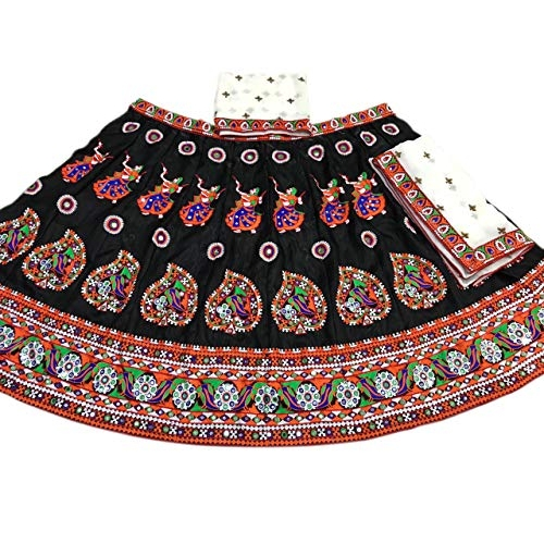 Fashion Hub 2442 Women's Lehenga Choli (White_Free Size)