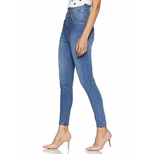 AKA CHIC Women's Skinny Fit Jeans (AKCB 1422_ Blue_ 30)