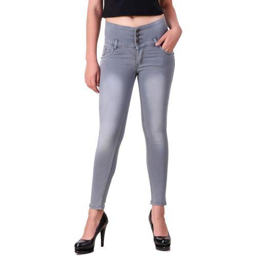 Ansh Fashion Wear Regular Women Grey Jeans