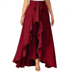 ADDYVERO Maroon  Solid Women's Flared  Skirt