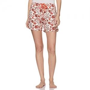 Enamor Multicolour Cotton Floral Print Jersey Shorts
