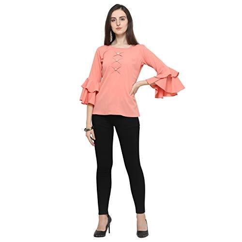 J B Fashion Peach Regular fit Top