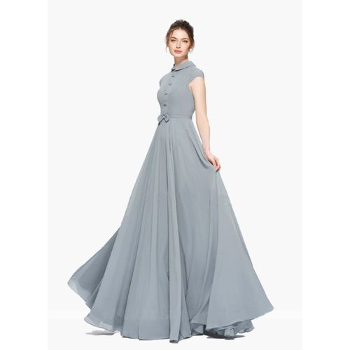 Beelee typs Flared/A-line Gown(Grey)