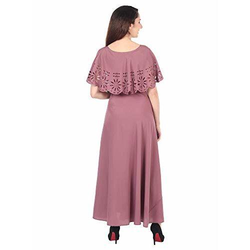 IQRA FASHION Women's Maxi Dress (IQRA_11-LITE WINE-M_Purple_Medium)