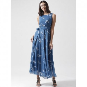 THE VANCA Blue A-Line Maxi Dress