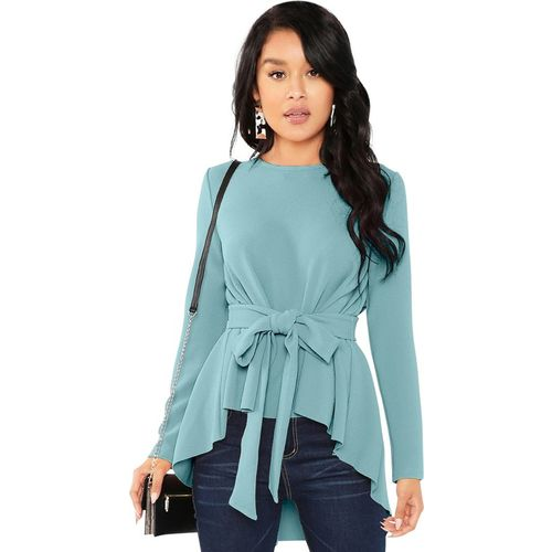 ILLI LONDON Casual Full Sleeve Solid Women Grey Top