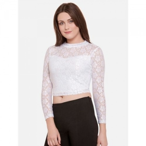 MARTINI floral lace crop top
