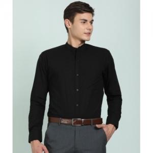 Park Avenue Black Cotton Solid Formal Shirt