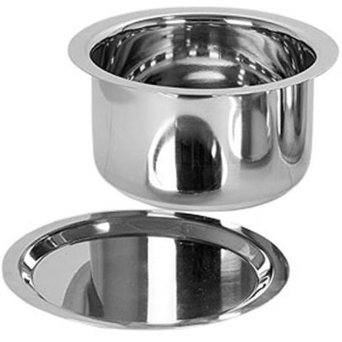Neera Induction Flat Bottom Tope with - 2.3 Liter. Tope with Lid(Stainless Steel, Induction Bottom)