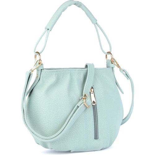 Lexit Green Polyster Round Shoulder Hobo Bag