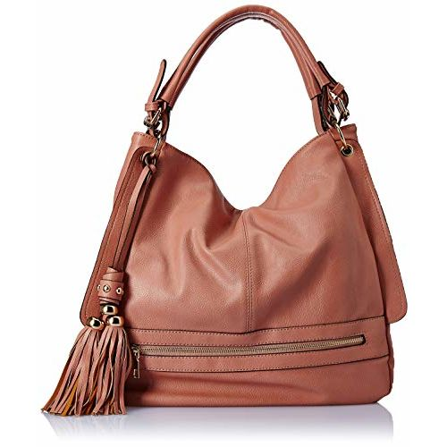 Max Pink Faux Leather Hobo Bag