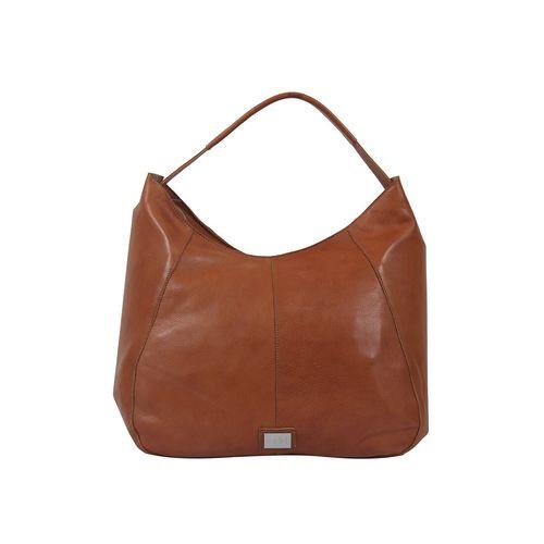 ECHT brown leather hobo handbag
