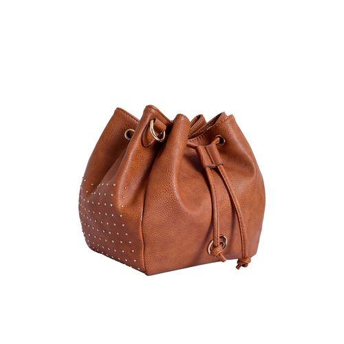 Lino Perros brown leatherette (pu) hobo handbag