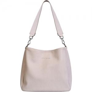 Lino Perros Beige Leather Hobo Bag