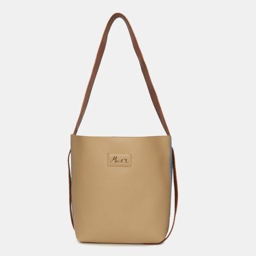Miss CL Beige Leather Hobo Bag