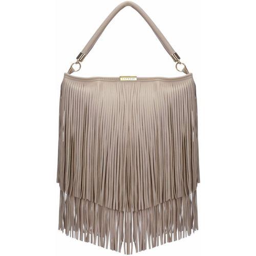 Caprese Beige Synthetic Hobo Bag