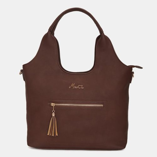 Miss CL Brown Artificial Leather Hobo Bag