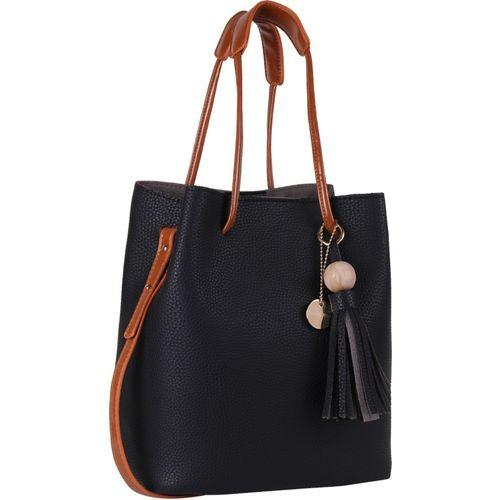Lino Perros  Black Leather Hobo Bag