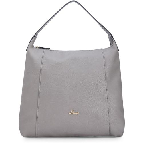Lavie Grey Artificial Leather Hobo Bag