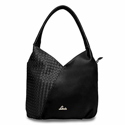 Lavie Black Textured Hobo Bag