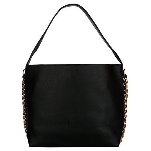 Gio Collection Black Hobo Bag