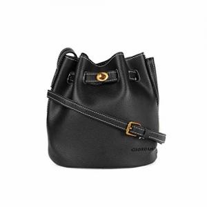 Giordano Black Polyurethane Hobo Bag