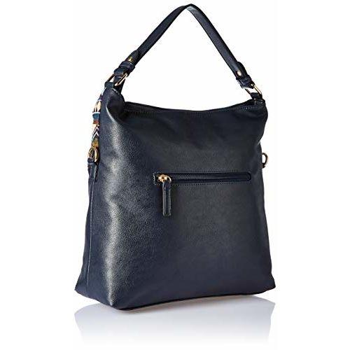 Lavie Danxia Navy Blue Synthetic Hobo Bag