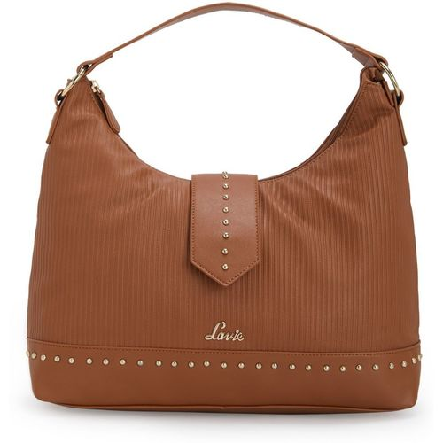 Lavie Women Brown Artificial Leather Hobo Bag