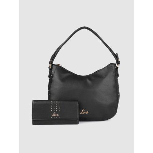 Lavie Women Black Polyurethane Hobo Bag